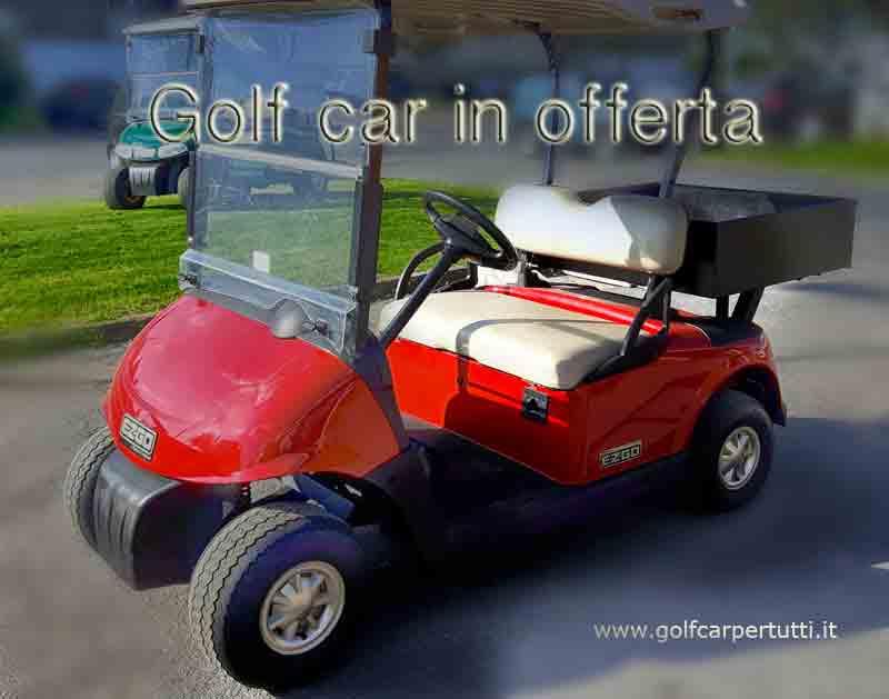 golf car EZGO RXV con cassone per trasporto